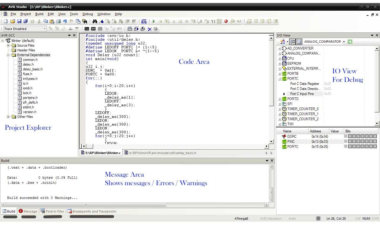 Robot Platform | Howto | Configure AVR Studio