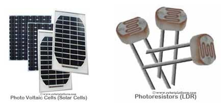 Types of photovoltaic cells